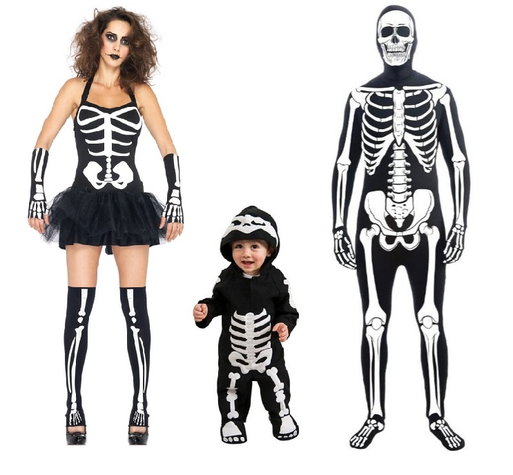 great skeleton costumes for adults and children
