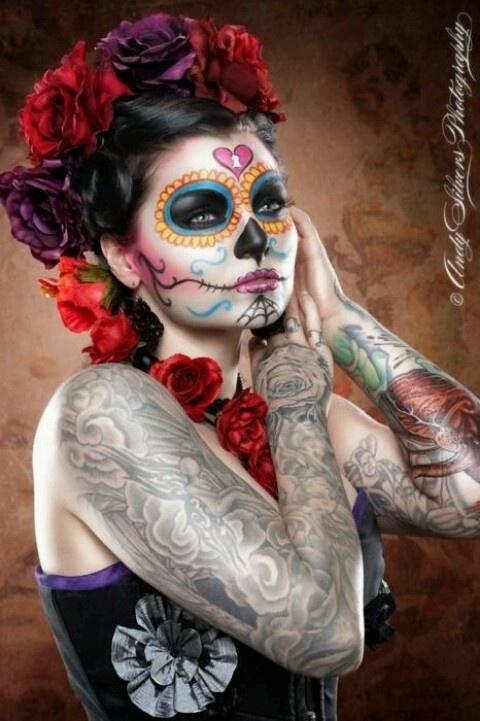 mexican skull makeup (3)