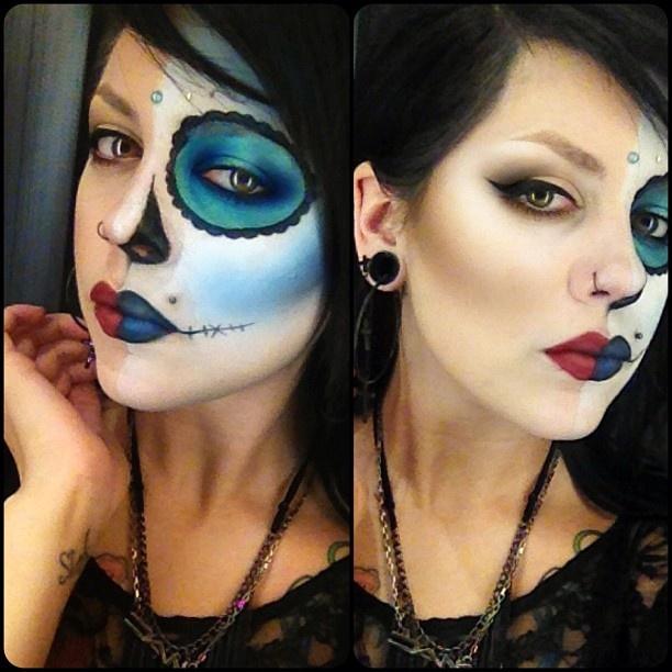 mexican skull makeup