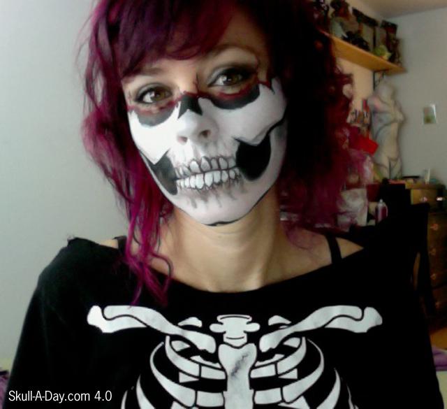 partial skull makeup
