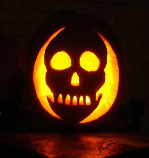jack o lantern template skeleton  7 Skull Pumpkin Carving Ideas