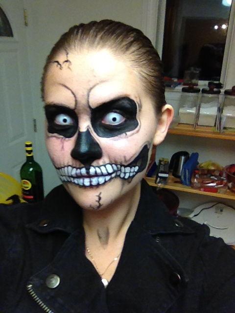 mann halloween schminke