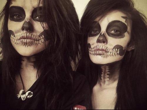 sexy skull makeup
