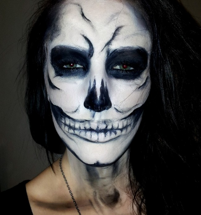 skull 3 skull face makeup skull - Halloween Skull Face Paint Ideas
