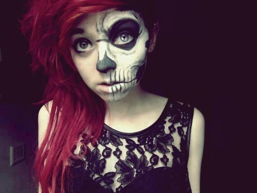 skull makeup halloween