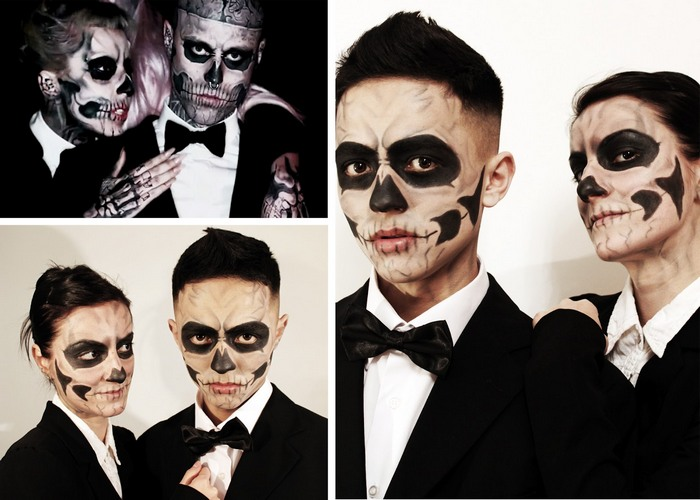 halloween skull makeup - Skull Faces Halloween