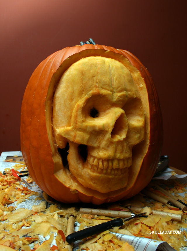 30 Skull Pumpkin Carving Ideas