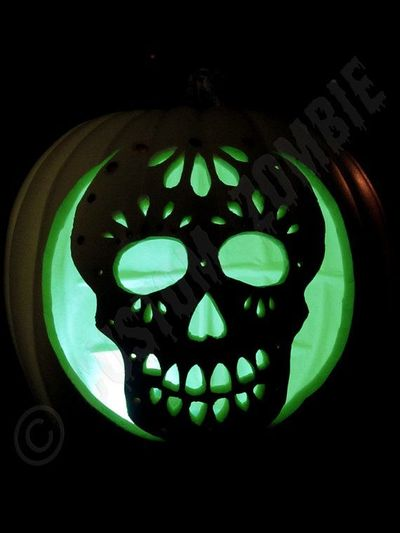 sugar skull pumpkin 1