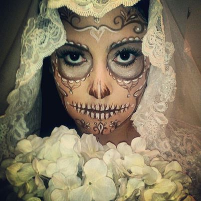 wedding mexican skull makeup