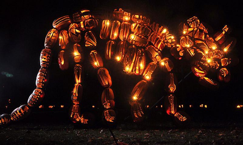 Amazing Carved Pumpkin O'Lantern Sculptures