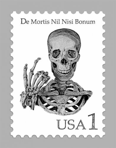 Skull Postage Stamp