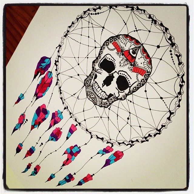 Skull illustrations by Fran Cáceres Beffermann part II