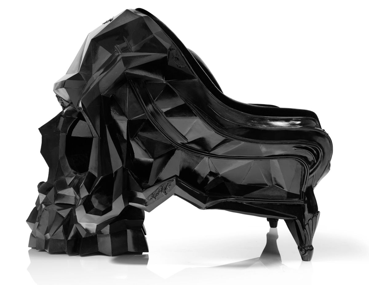 Black skull chair - Skull Armchair By Harow 3