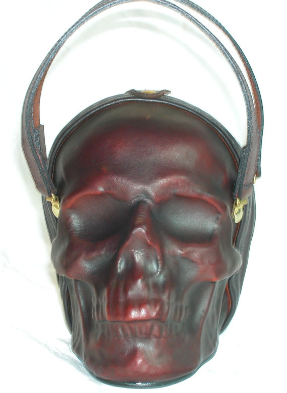 Leather Skull Purse Clutch 1