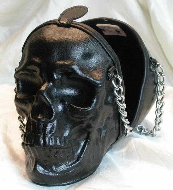 Leather Skull Purse Clutch 2