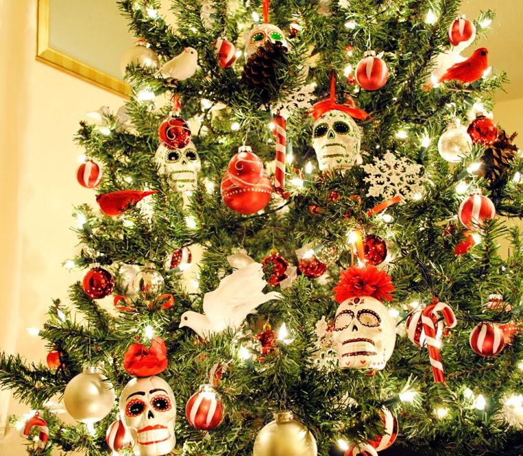 skull christmas decorations - Alternative Christmas Tree Decorations
