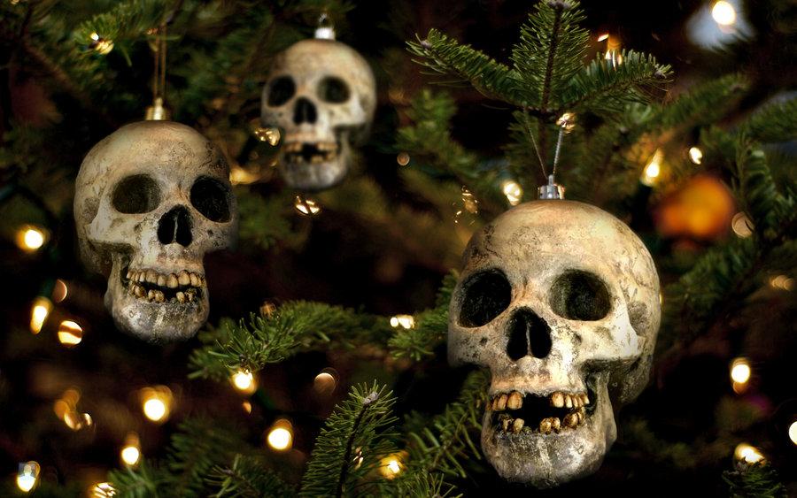 skull christmas tree 2 skull christmas decorations - Christmas Tree Ornaments