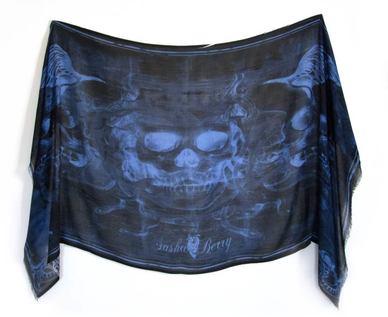 Skull scarf by Sasha Berry
