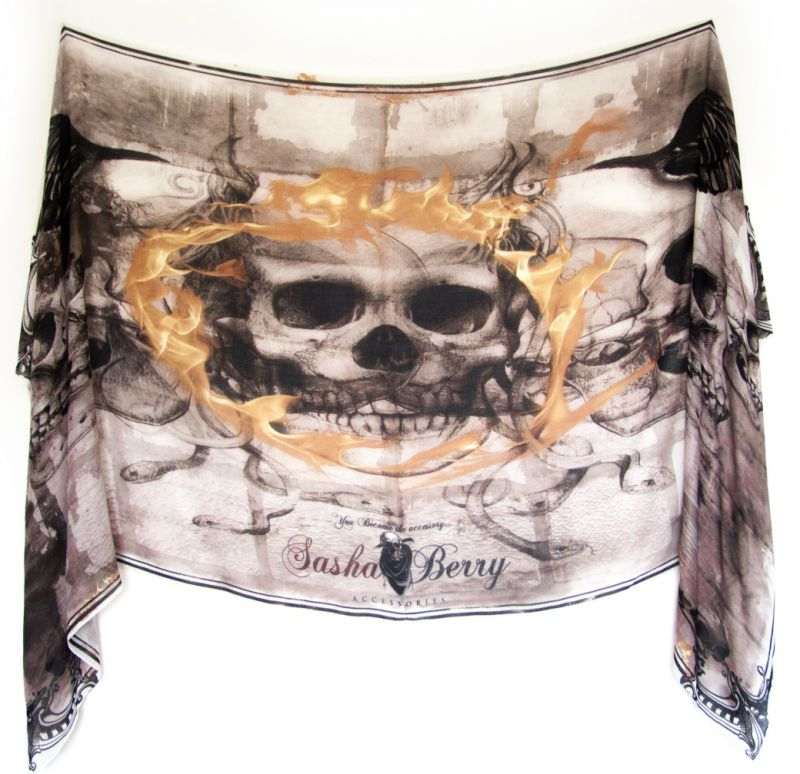 Skull scarves by Sasha Berry 1
