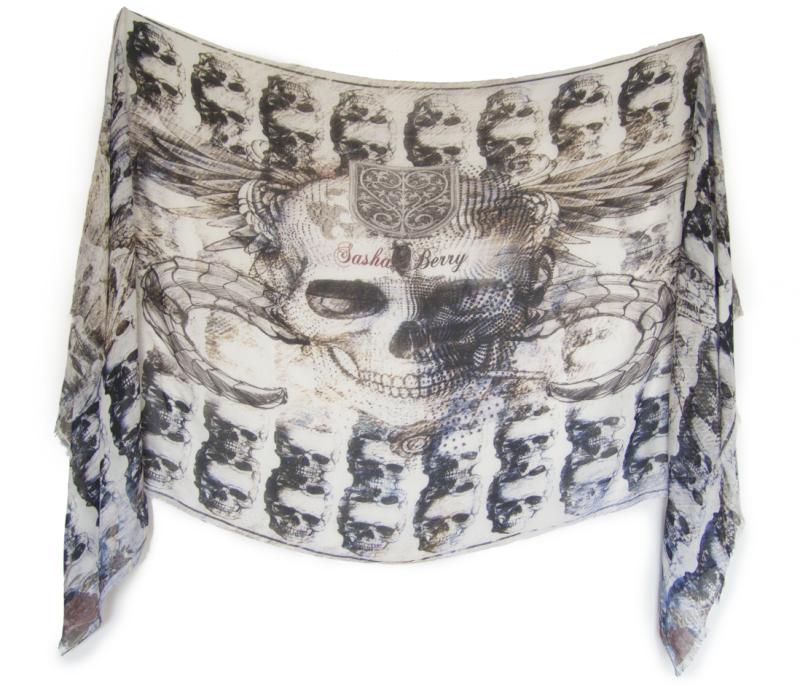 Skull scarves by Sasha Berry 2
