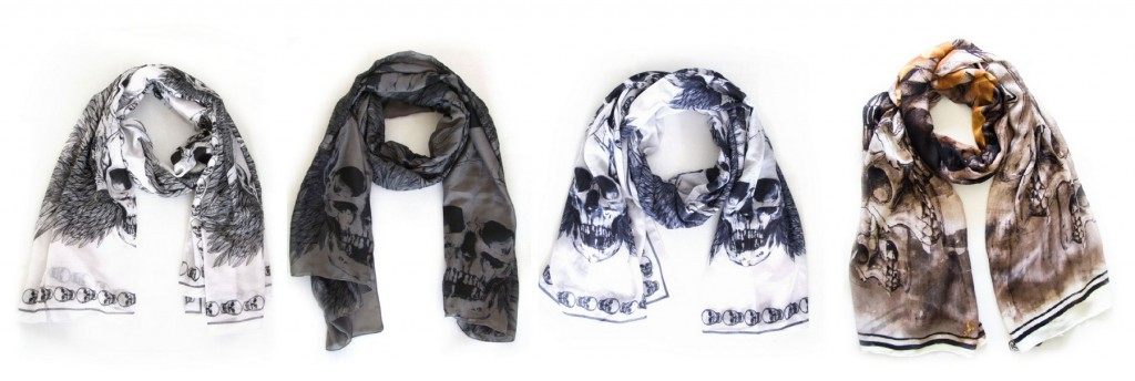 Skull scarves by Sasha Berry 3