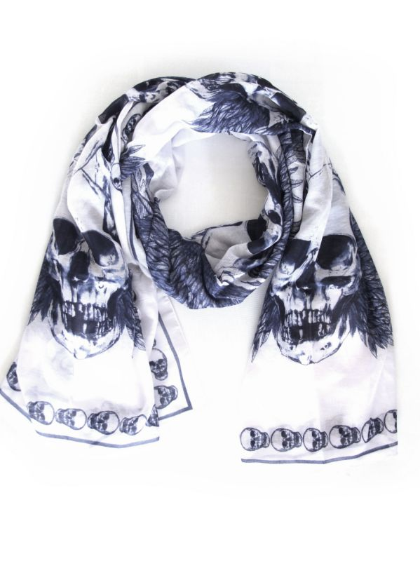 Skull scarves by Sasha Berry