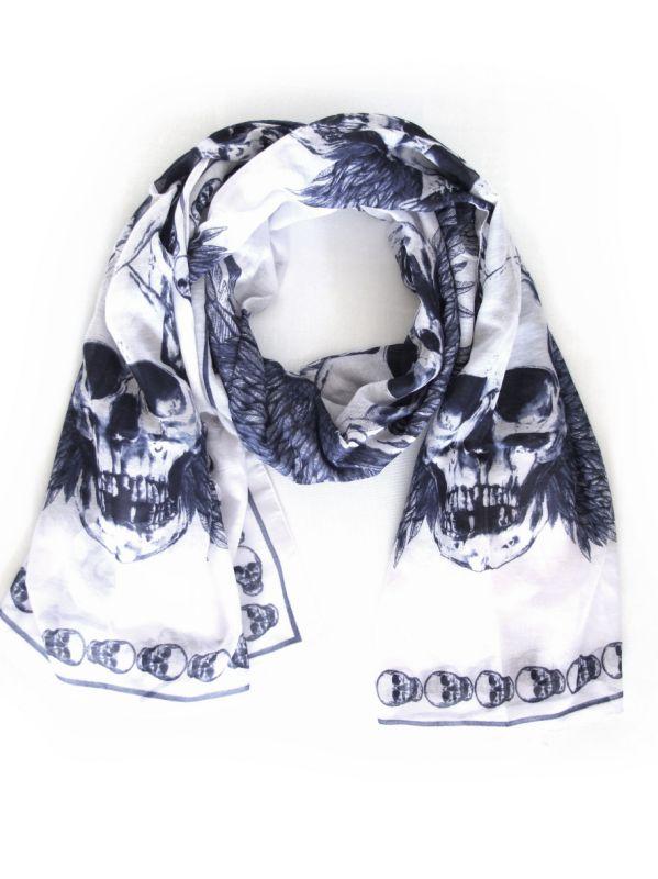 Skull scarves by Sasha Berry