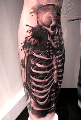 black ink skeleton
