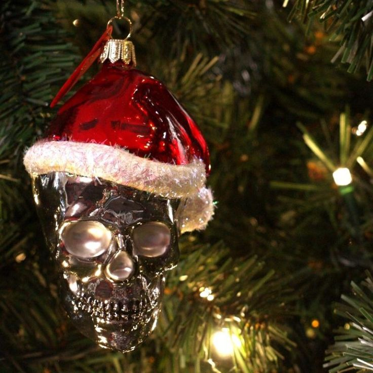 christmas skull ornament