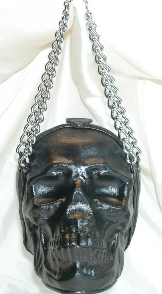 leather skull purse by griffinleather