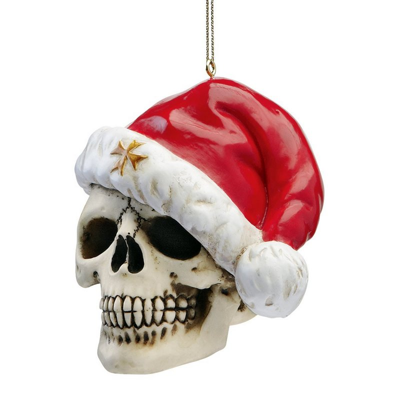 skull christmas bauble