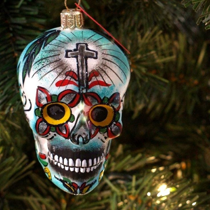 sugar skull tree decoration