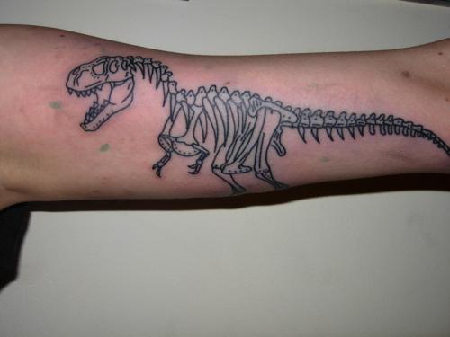 trex skeleton tattoo