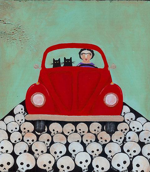 Frida and Skellie Cats by Ryan Conners 1