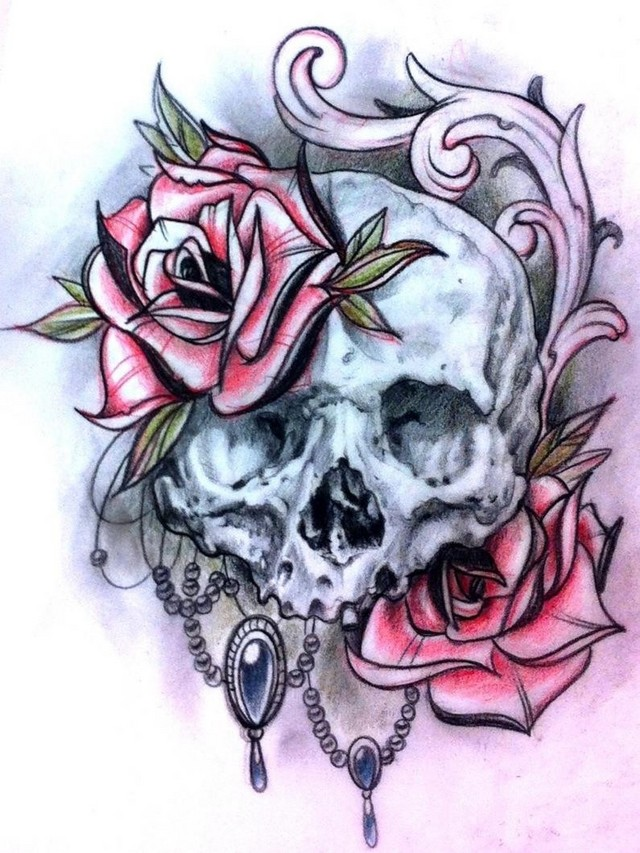 4dace9092 Skull tattoo sketches by Giannis Karampetsos