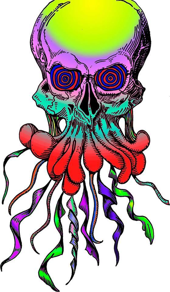 Psychedelic Skull by Heiridiane Milhomem