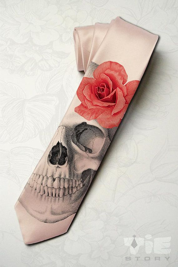 Skeleton wedding necktie