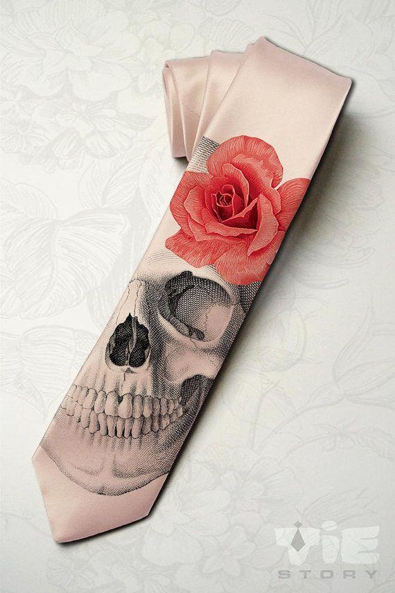 Skeleton wedding necktie