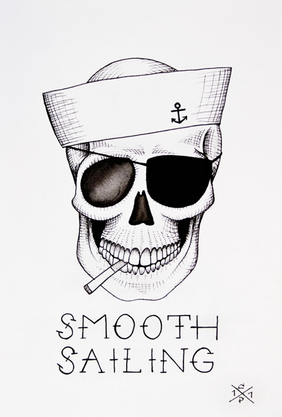 Skull drawings by Christina Platis 1