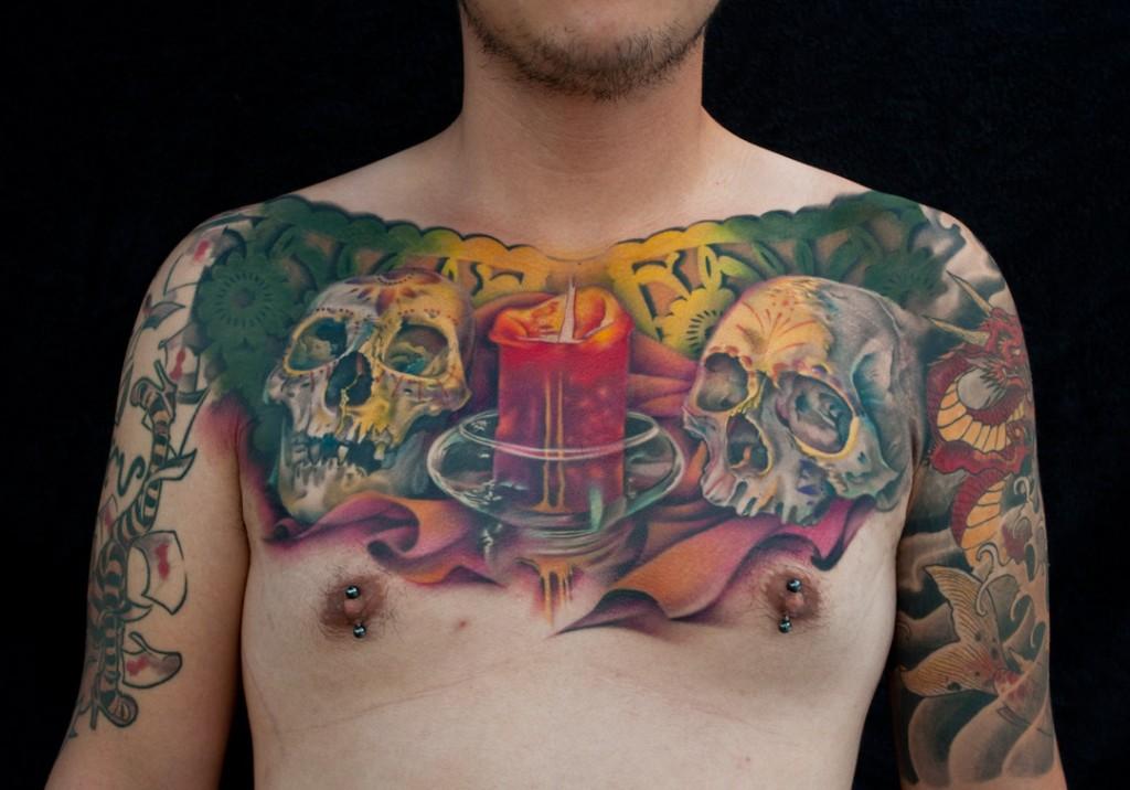 Skull tattoos by Nick Chaboya (2)