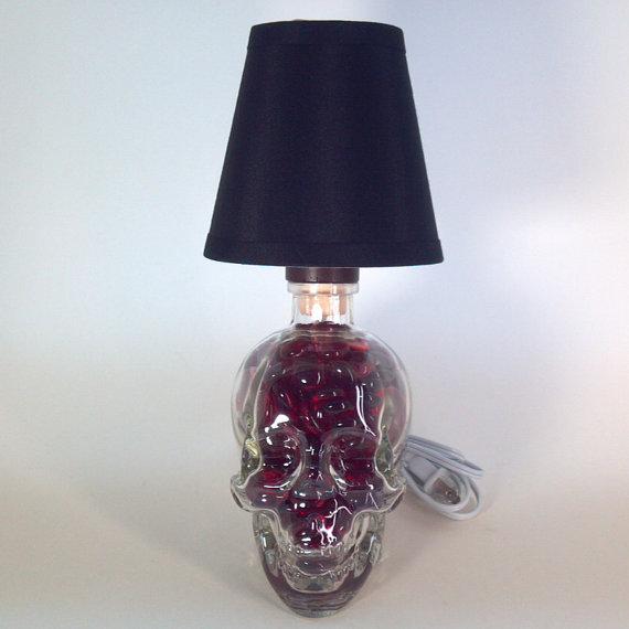 Crystal Head Vodka Bottle Lamp