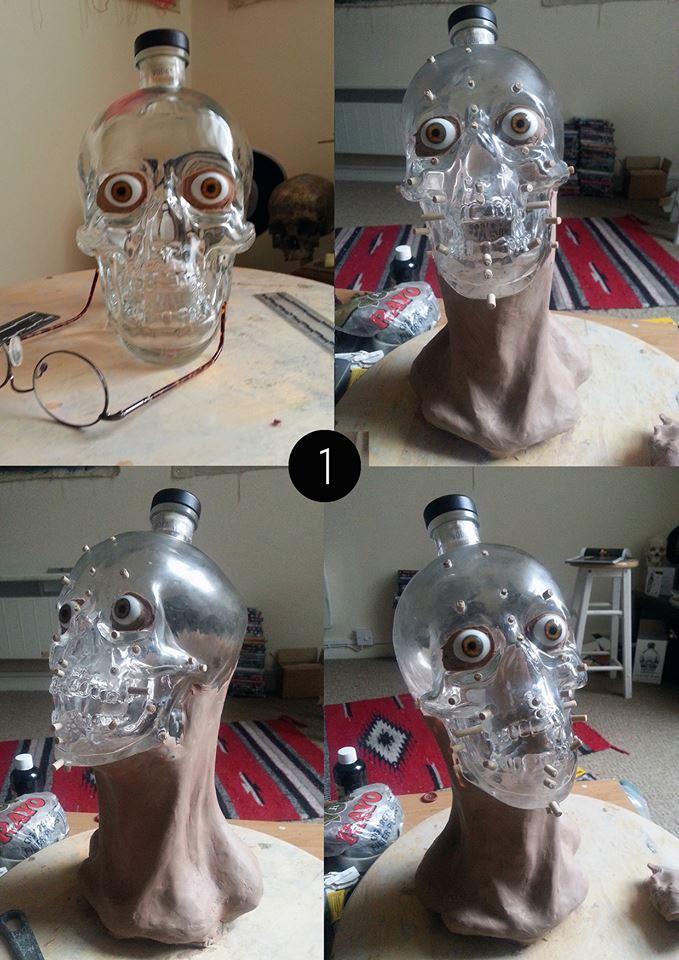 Forensic reconstruction of a Crystal Head Vodka skull