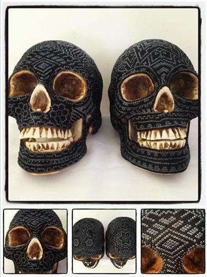 Hand Beaded Skulls (2)