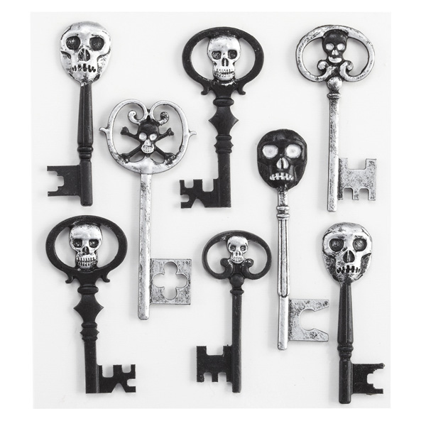 Skeleton keys stickers
