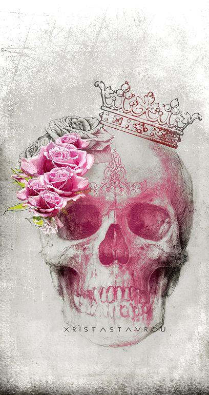 Skull Art by Xrista Stavrou
