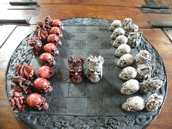 Skull Chess Set (2)