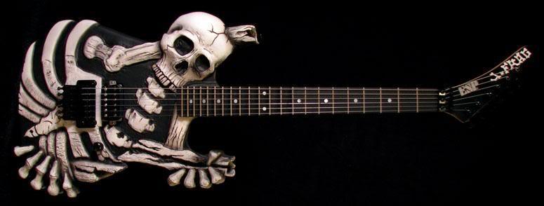 Skull and Bones Guitar 1