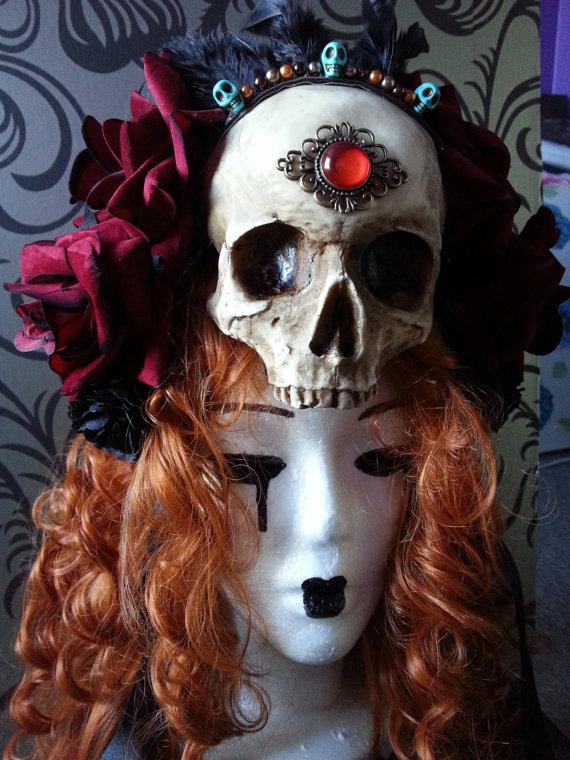 Skull and Rose headdress (2)