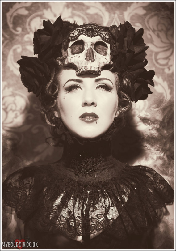 Skull and Rose headdress
