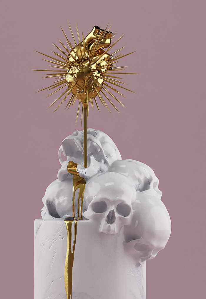 Skull-ptures by Hedi Xandt (2)